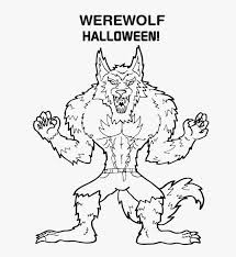 Small Picture Free Werewolf Halloween Coloring Pages