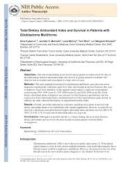 PDF) Total Dietary Antioxidant Index and Survival in Patients with ...
