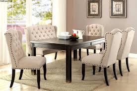 furniture of america sania i dining table set cm3224bk t savvy black dining table set