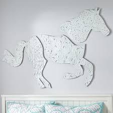 metal horse art wall decor pottery