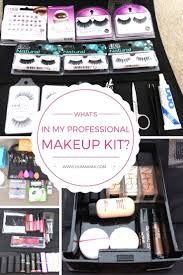 what s in my professional makeup kit all the things a professional beginner makeup artist needs to start their kit humairak