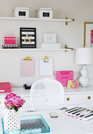 home office decorating ideas nyc. 13 Kate Spade New York-Inspired Office Decor Ideas For The HBIC Via Brit + Home Decorating Nyc T