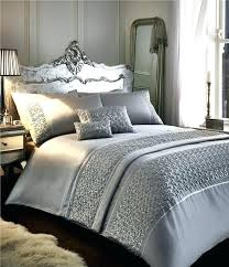 white and silver bedding bedspreads comforter with trim