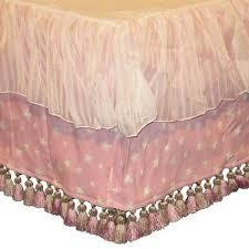 glenna jean isabella 3 piece crib bedding set pink green nwot