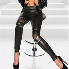 2019 black y women leather skinny pants zipped leggings stretch slim trousers for girls clothing from brry 29 33 dhgate com