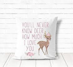 Nursery Pillow Girls Boho Nursery Decor Deer ... - Amazon.com
