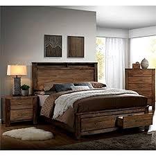 3 piece queen bedroom set. Exellent Set Furniture Of America Nangetti Rustic 3 Piece Queen Bedroom Set In Oak In E