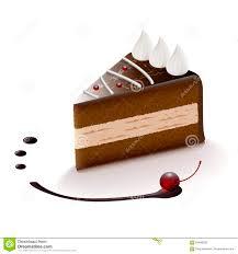 chocolate cake slice clip art. Chocolate Cake Slice Vector Clip Art Illustration Throughout