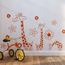 kids room wall decorations wholesale removable giraffes wall stickers quality ecofriendly and non toxic  on wall art stickers for childrens rooms with kids room marvelous kids room wall decorations wall art for