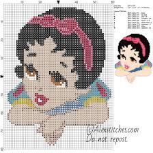 Free Disney Cross Stitch Charts Baby Princess Snow White Disney Free Cross Stitch Pattern