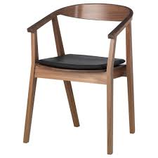 unbelievable stockholm chair with pad walnut veneerdark brown ikea image of dining inspiration and stackable trend
