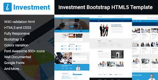 Investment Bootstrap Html5 Template By Canyonthemes Themeforest
