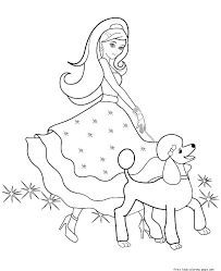 Princess Barbie Coloring Pages Print Out Games Printable Moschino T