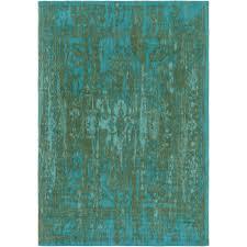 elegant maya teal 5 ft x 8 ft indoor area rug