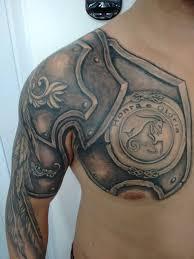 Tattoo Sergio Rabisco воин броня тату тату на плече тату