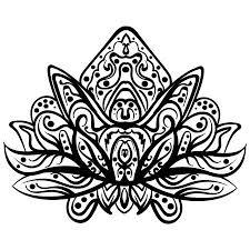 Sierlotus Etnische Hennatattoo Met Patroon Indian Paisley Voor