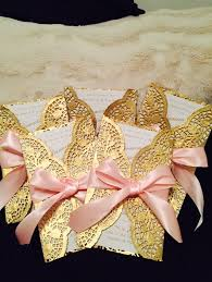 diy doilie bow wedding invitations easy beautiful and cheap