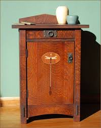 craftsman style furniture. Dragonfly Nightstand - Featuring Original Arts And Crafts Motif. Comes With One Adjustable Shelf Craftsman Style Furniture L