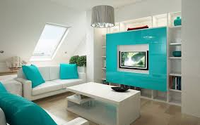 Light Blue Color Scheme Living Room Beaded Ceiling Lights Over Colorful Couches Small Living Room
