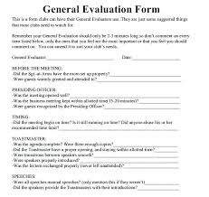 Toastmaster Evaluation Template Free Word Documents Toastmasters ...