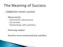 Career Success Definition Women Men In Management Ppt Video Online Download