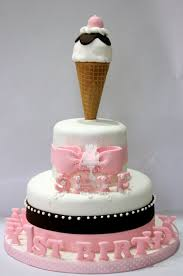 12 Ice Cream Themed Cupcakes Photo Cupcake Ice Cream Sundae Cake