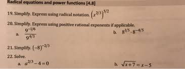 radical equations and power functions