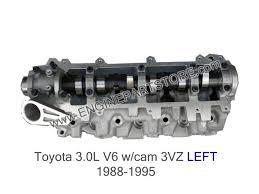 88-95 toyota 3.0 3VZE LEFT cylinder head w/valves-cam