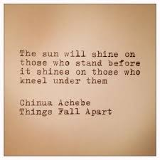 Chinua Achebe Things Fall Apart #Quote | Fela Anikulapo Kuti ... via Relatably.com