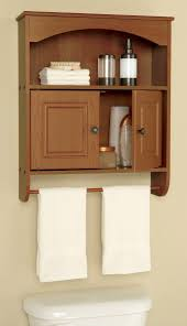 Small Bathroom Wall Cabinet With Towel Bar Classic Mountedcquered Oak Wood  Decorative Arched Top Rail Small