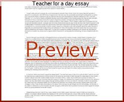 teacher for a day essay essay academic service teacher for a day essay world teachers day was started by unesco and is