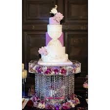 crystal wedding cake stands