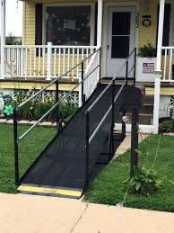 this family needed safe and fast accessibility to the front entrance of home in wheelchair ramps