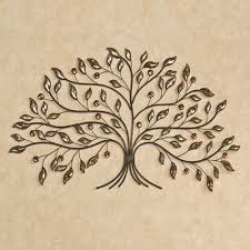 alexandra vining tree metal wall art brown touch to zoom