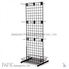 Free Standing Wire Display Racks Peg Hook Wire Mesh Hanging Display Racks With Spray Painted 100 2