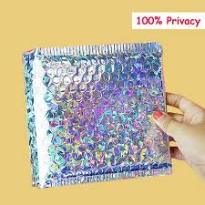 40-<b>50Pcs Holographic Metallic</b> Bubble Mailers Packaging Bags | Etsy