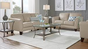 tan leather living room sets