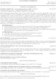 Investment Banking Resume Template Emelcotest Com