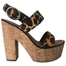 Diane Von Furstenberg Shoes Size Chart Pony Style Calfskin Heels Diane Von Furstenberg Brown Size 5
