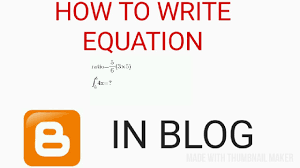 how to write math equation expression diffe notation in blog website post pages