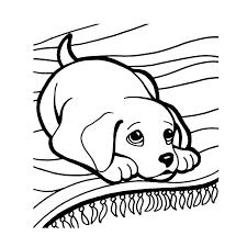 Kleurplaat Puppy Kerst