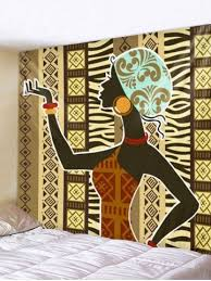 african woman print wall hanging art tapestry on african cloth wall art with african fabric free shipping discount and cheap sale rosegal