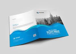 Presentation Folder Design Wave Presentation Folder Design Template