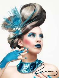 Monochromatic Makeup - Rosario Ruiz's 'Colormiuse' Models Rock One Shade Apiece ... - rosario-ruiz-colormiuse
