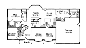 Harmon Oak Early American Home Plan D    House Plans and MoreEarly American House Plan First Floor   D    House Plans and More