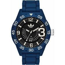 adidas men 039 s 48mm blue silicone band polyurethane case quartz adidas men s 48mm blue silicone band polyurethane case quartz black dial analog watch adh3141