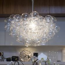 large size of light lighting floating bubble chandelier with wall mount kitchen cabinet also tile back