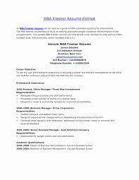 Mba Finance Resume Sample For Freshers Sample Resume Format For Mba Finance Freshers Inspirational Cheap 13