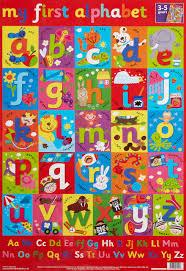 Learn The Alphabet Wall Chart Wall Charts Amazon Co Uk