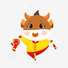 God of wealth to blessing new year festival lunar red festive illustration illustrator commercial elements, new year, new sfestival, year of the pig png transparent clipart image and psd file for free download. Hand Drawn Vector Ox Year Cute Baby Cow Cute Clipart Happy New Year Chinese New Year Png And Vector With Transparent Background For Free Download